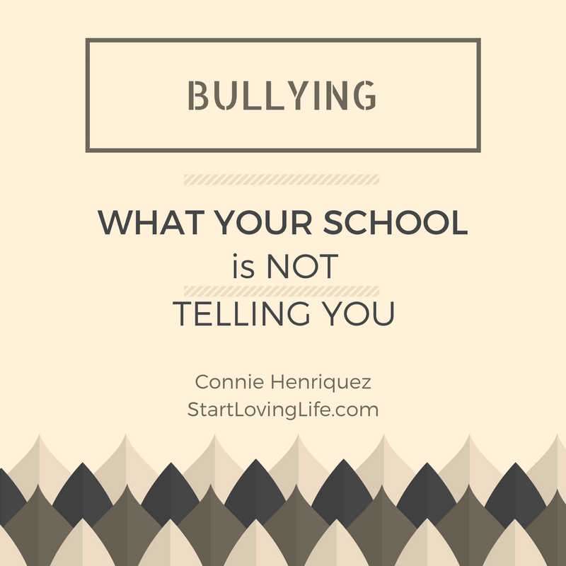 What your school is NOT telling you about bullying.