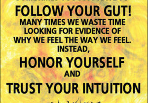 Sometimes you just have to follow your gut…